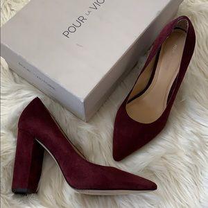 ❤️ Pour LA Victoire burgundy celinaks pumps
